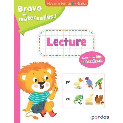 Bravo les maternelles - Lecture Moyenne section + autocollants - Книга на френски език