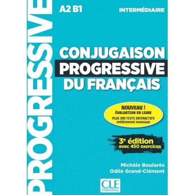 Conjugaison progressive du français - Niveau intermédiaire (A2/B1) - Livre + CD - Книга на френски език