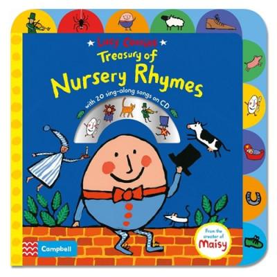 Lucy Cousins Treasury of Nursery Rhymes Book and CD - Книга на английски език и CD