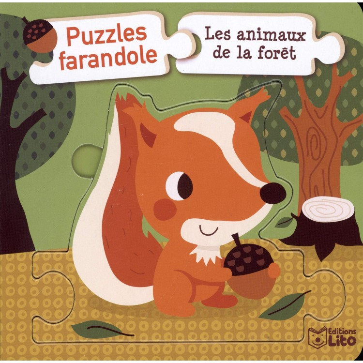 Puzzles  - Les animaux de la forêt - Пъзел - животните в гората