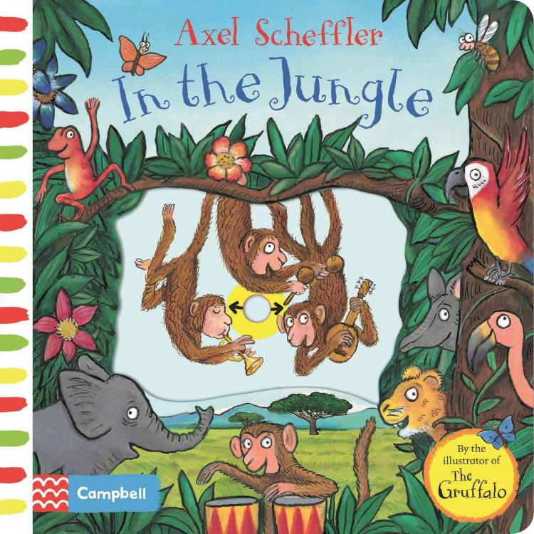 Axel Scheffler In the Jungle: A push, pull, slide book Board book - Книга на английски език