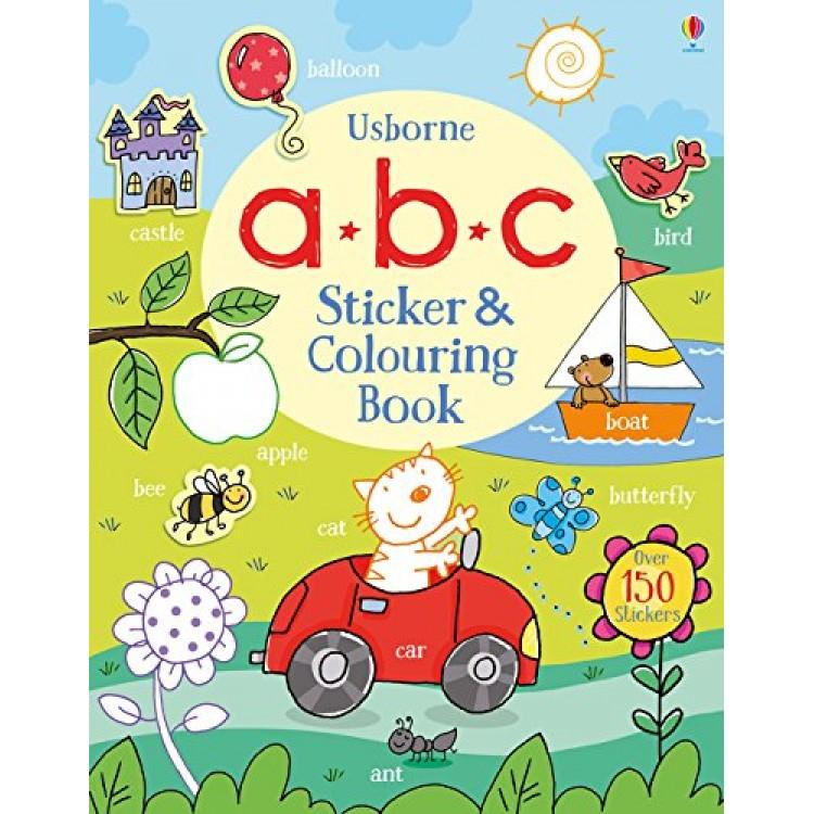 ABC Sticker and Colouring Book - Книга на английски език