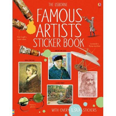 Famous Artists Sticker Book  - Книга на английски език