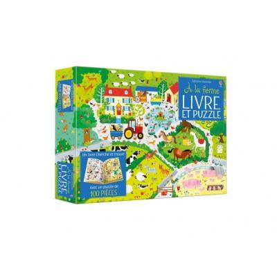 Coffret A la ferme (Livre et puzzle) - Книга на френски език и пъзел